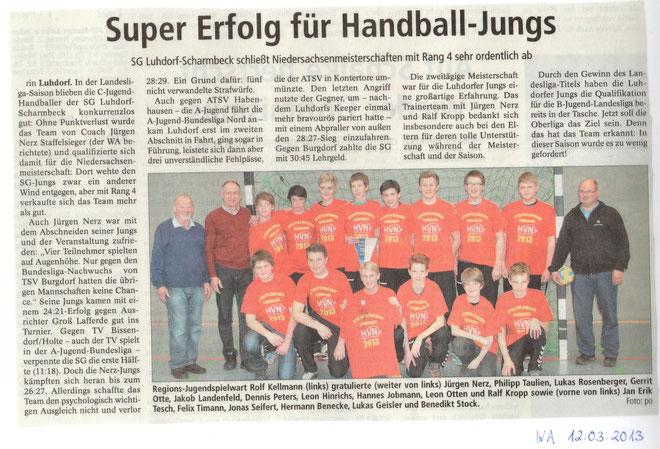 MC Niedersachsenmeisterschaft Winsener Anzeiger 12.03.2013