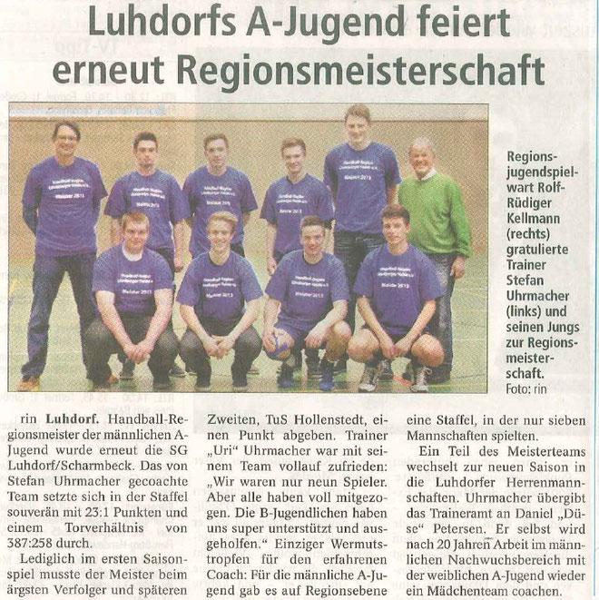 MA Regionsmeister Winsener Anzeiger 20.04.2013