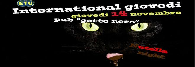 Giovedi' erasmus Gatto nero - Nutella party