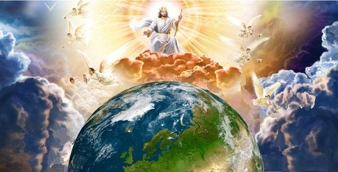 Lorsque le Fils de l'homme viendra dans sa gloire avec tous les [saints] anges, il s'assiéra sur son trône de gloire. Toutes les nations seront rassemblées devant lui. Il séparera les uns des autres, comme le berger sépare les brebis des boucs.