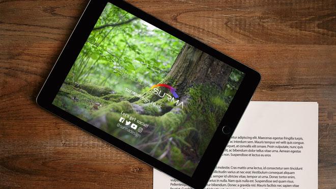 Tablet & Letterhead Free PSD Mockup