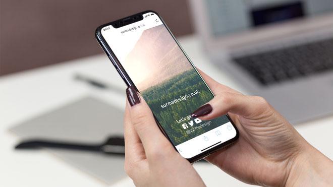 Iphone X Screen Free PSD Mockup