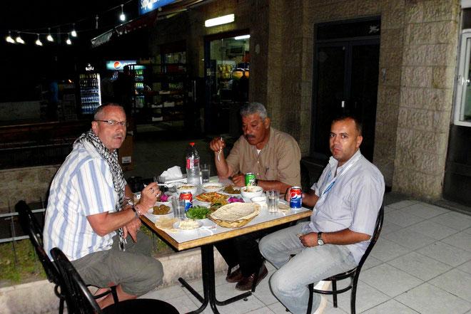 Abendessen in Ammann am Ende des 2.Tages.