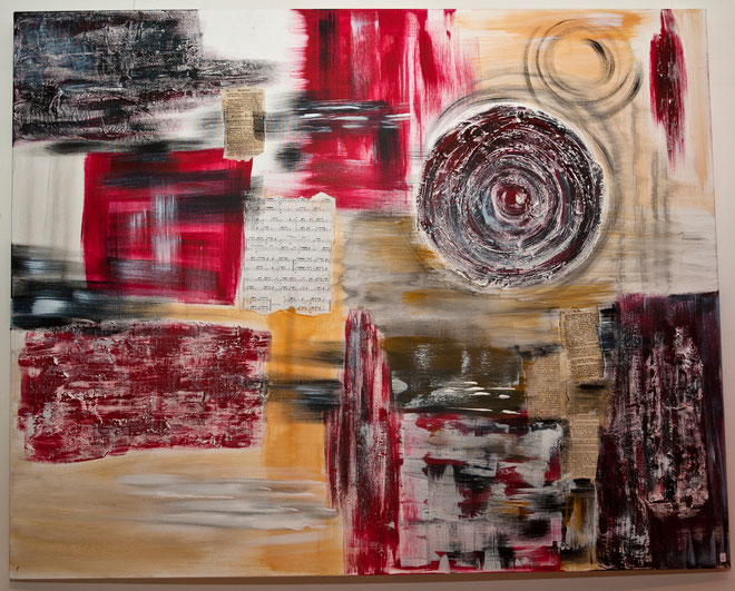 Acrylbild 150/120  650,-  Dieses Bild ist einfach inspirierend,fesselnd!