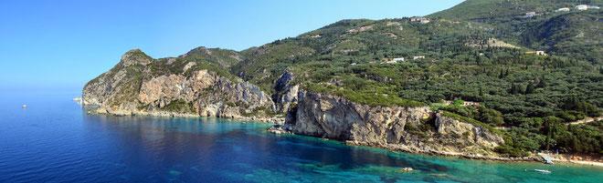 Küste bei Paleokastritsa