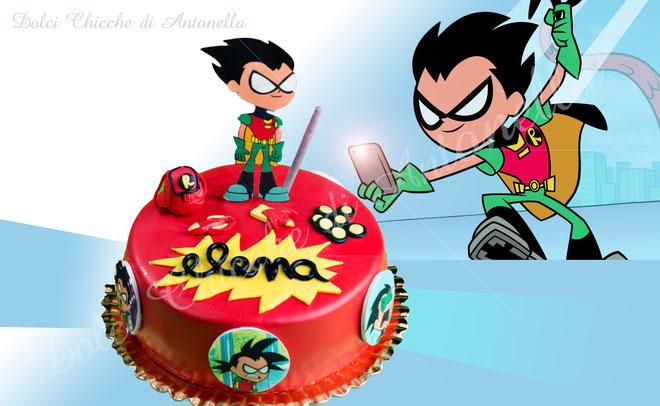 ROBIN TEEN TITANS-teen titans-dolci-torte-la spezia-liguria-compleanni-bimbi