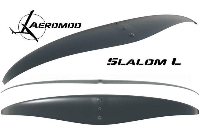 croquis en 3 dimensions de l'aile Slalom L pour le windfoil Aeromod V2