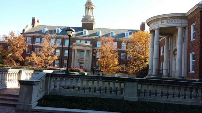 サザンメソジスト大学の瀟洒な建物