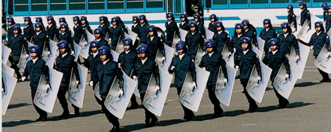 """Politiets mobile opstandsbekæmpelses enhed  """"Kidótai"""""""