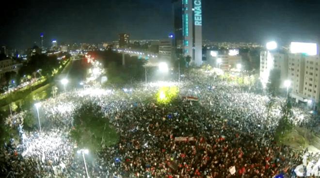Gadefest i Santiago d. 25. oktober 2020  efter den store tilslutning til en ny forfatning
