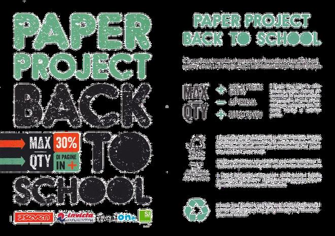 Abbiamo aderito al progetto di Seven: quaderni con il 30% di pagine in più gratis, meno emissione di anidride carbonica, più salvaguardia dell'ambiente.