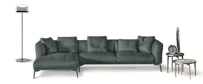 Divano in tessuto, divano 3 posti, comprare un divano moderno, divano con chaise lounge, negozi divano a salerno, divano moderno a salerno