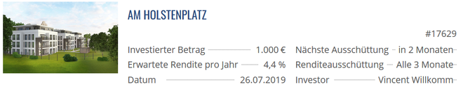 Exporo, Immobilien-Crowdinvesting Update, freaky finance, Projekt Am Holstenplatz, Exporo Bestand
