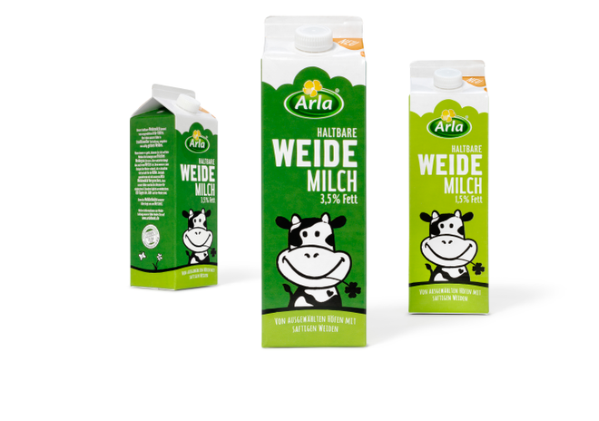 Arla - Weidemilch - Packaging  - Verpackung - Design - DesignKis - 2015