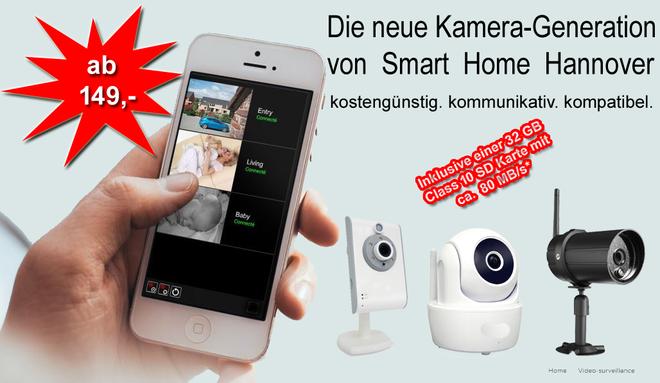 Neu im Shop für Somfy Proukte und Smart Home Systeme: IP-Kameras/WiFi-Kameras: IP-Kamera Innen IK 1000, IP-Kamera Innen Dreh- und Schwenkbar IKM 1000, IP/WiFi-Kamera Außenkamera AK 1000