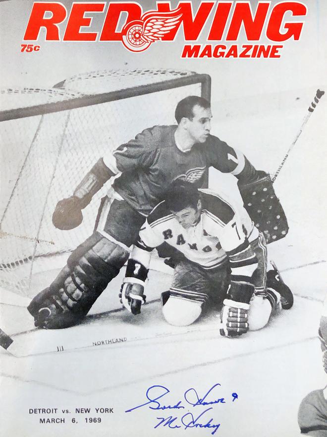 Autograp Gordie Howie Mr. Hockey Autogramm