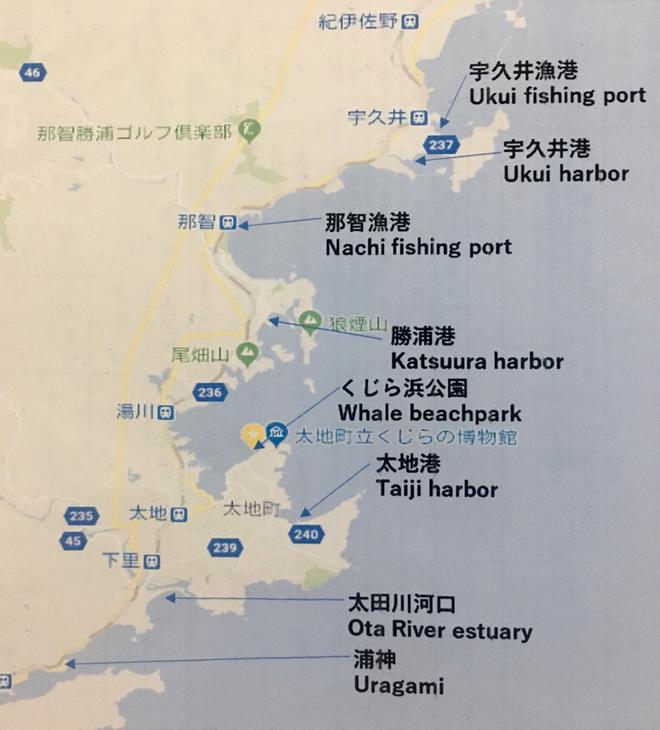 Taiji, Nachikatsura Fishing location information