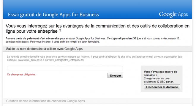 essai gratuit avec google apps