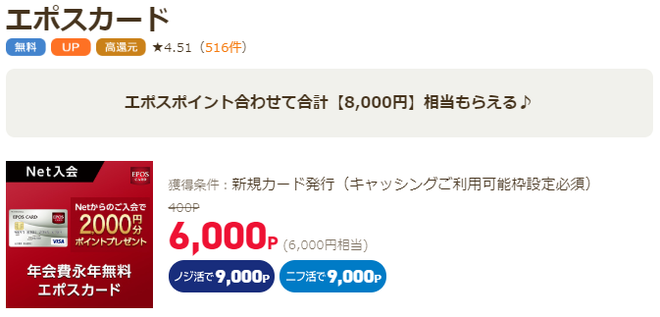 アンケートサイト比較一覧ランキング3位ライフメディアで月収10万円稼ぐならエポスカード発行