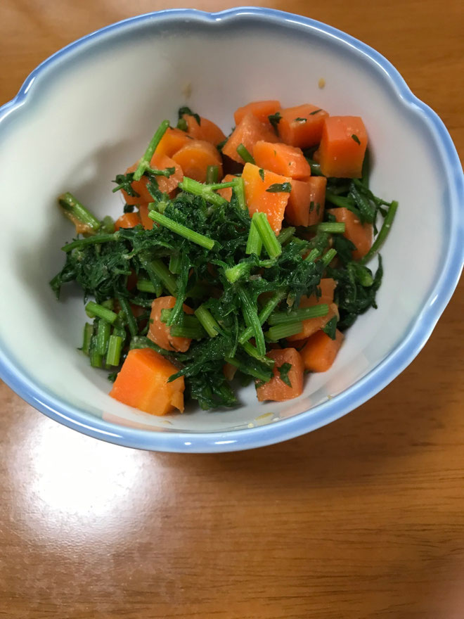 carrot with mustard-miso