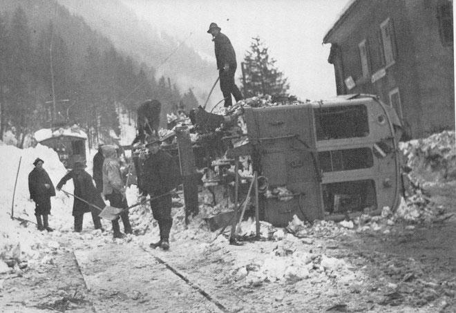 Bild aus der Sammlung F. Stäuble, Zürich (Waldburger, Das war die Sernftalbahn)