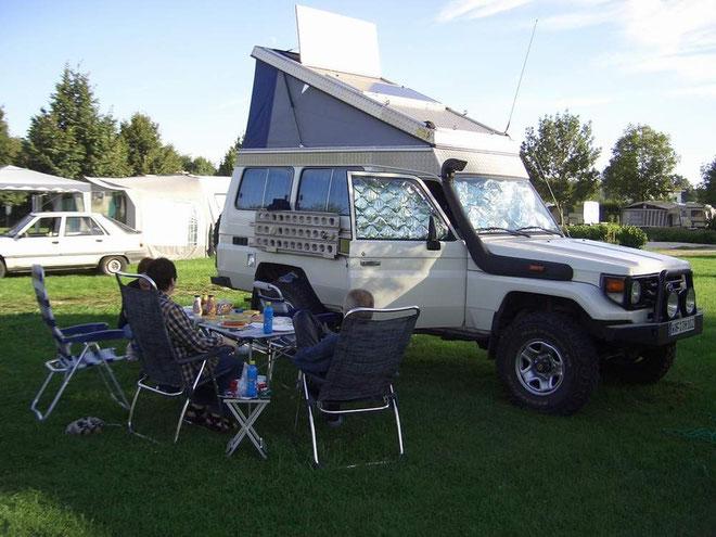 Pause auf dem Campingplatz