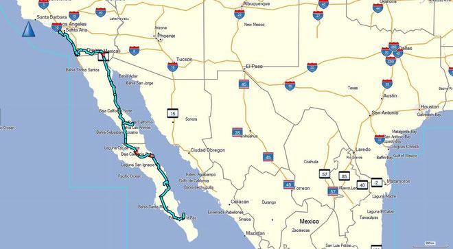 Von Los Angeles zur Baja