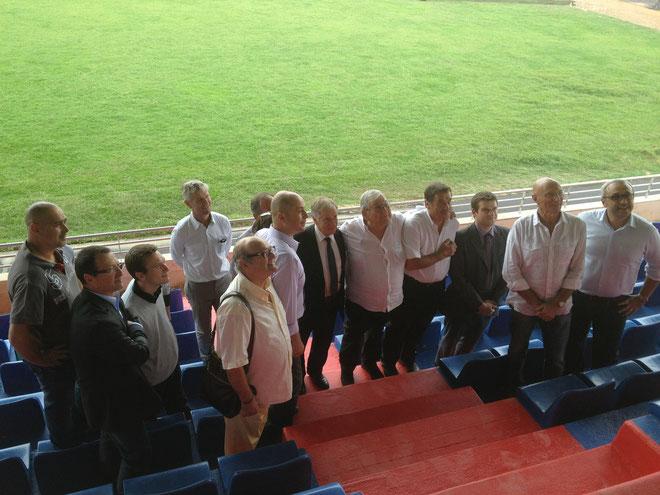La délégation et les responsables du GFCA dans les tribunes (Photos J. F)