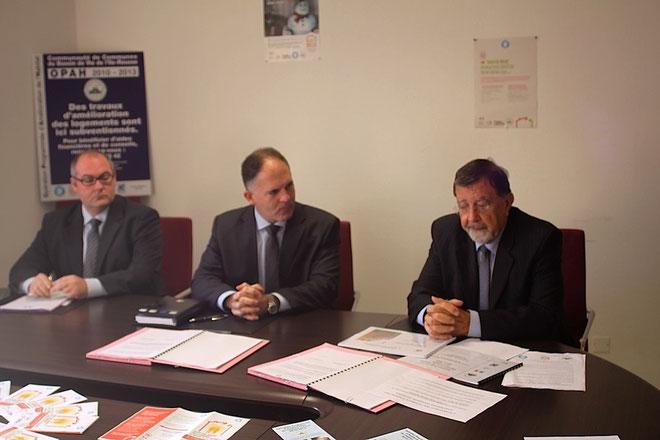 Stéphane Donnot, Louis Le Franc et Hyacinthe Mattei (Photos Jean-Paul Lottier)