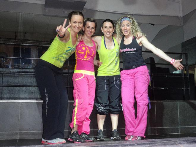 Lydie Depierre et les coaches Zumba de Balagne.