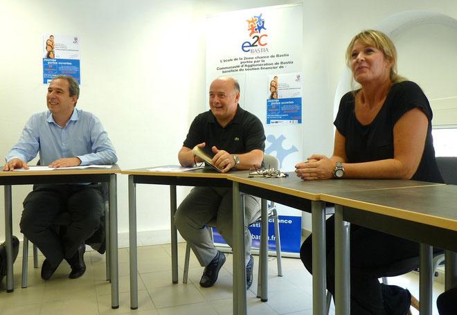 Jean Zuccarelli, Bernard Giudicelli et Nathale Royer, directrice adjointe
