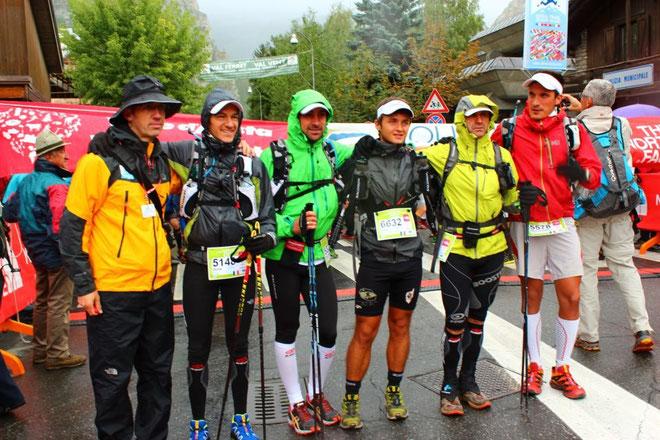Loïc Giacometti-Leonardi (6632) en compagnie des autres concurrents corses de la CCC. (Photos René Sammarcelli)