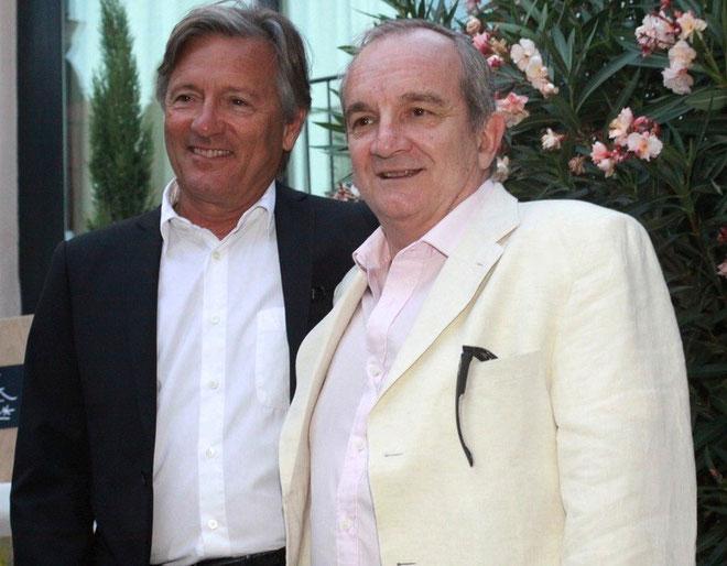Le Dr Ange-François Vincentelli (à droite) en compagnie de Jean-Pierre Pinelli