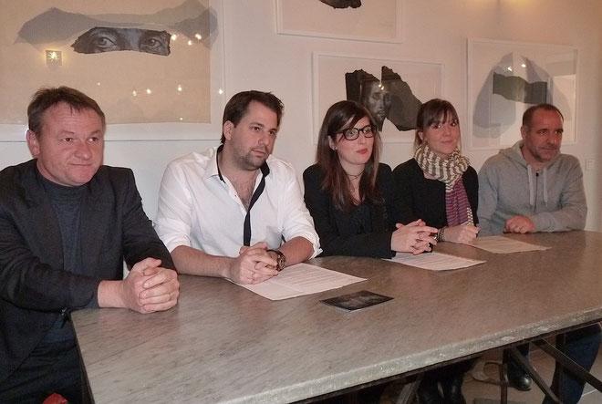 Frédéric Hantz, Francescu Santoni, Lauda et Josépha Giudicelli, Didier Grassi