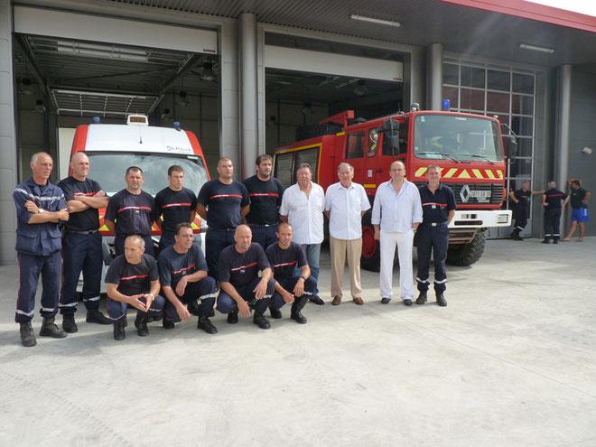 Les hommes du centre de secours de Saint-Florent