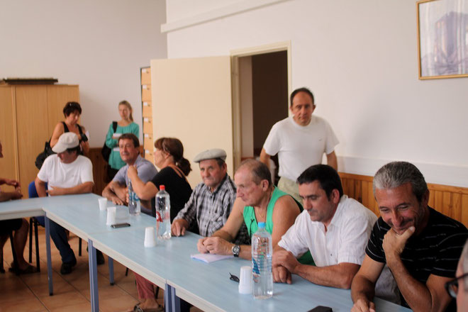 La délégation emmenée par J Colombaani