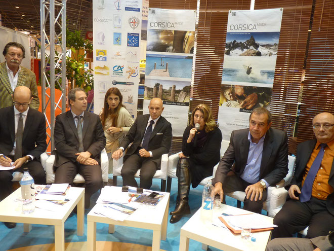 De gauche à droite : Franco Cucureddu, Jean Zucarelli, Luigi Crisponi, Vanina Pieri, Jean Toma, Antoine Feracci