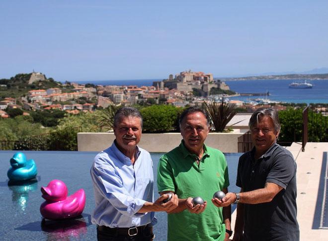 De gauche à droite Jean-Nicolas Pandolfi Jean-Baptiste Ceccaldi et Jean-Pierre Pinelli (Photo Jean-Paul Lottier)