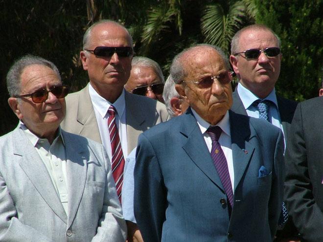 Avec Pierre Pasquani lors du de l'inaauguration du boulevard