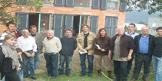 Visite de chantier. (Photos Roger Giordano)
