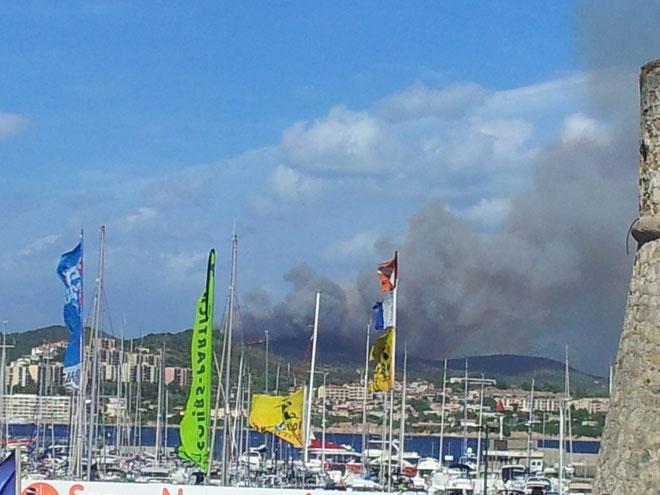 A Ajaccio, les flammes étaient visibes du centre-ville.