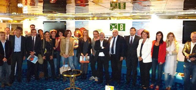 Les organisateurs du Festival du Vent et leurs partenaires à bord du Méga  Express : La 21e édition est lancée !