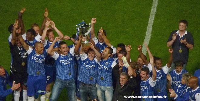 Le SCB à la fin de la saison dernière : le titre de National et l'accession en Ligue 2