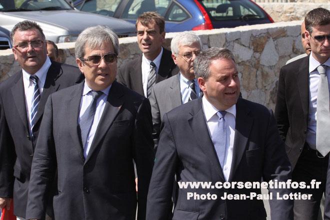Xavier Bertrand lors de sa dernière visite en Balagne