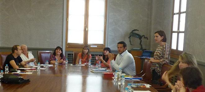 Elisabeth Dominici (débout) et Yvan Franchi (à sa droite) : au service des auto-entrepreneurs