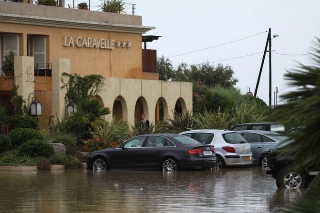 L'hôtel La Caravelle une nouvelle fois sous les eaux. (Photos Jean-Paul Lottier)