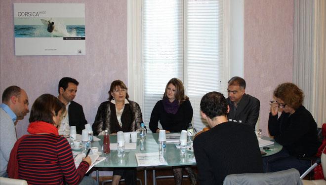 L'équipe de l'ATC autour de Vanina Pieri (Photo M.S)