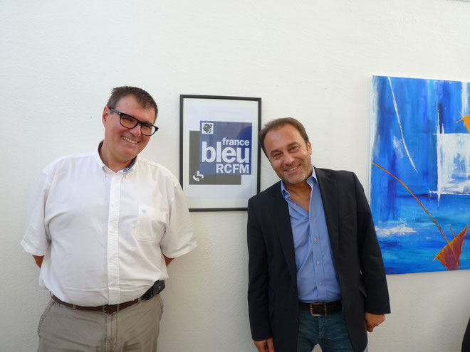 Hervé de Haro (à gauche) directeur de France Bleu RCFM et Jean-Paul Luciani : La main dans la main