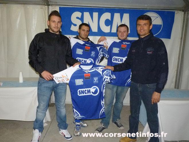 Olvier Nunzi et Sébastien Caselli (au second plan) : l'avenir de Bastia XV