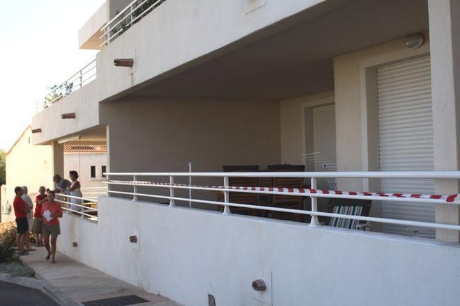 L'appartement où s'est déroulé le drame (Photos Jean-Paul Lottier)